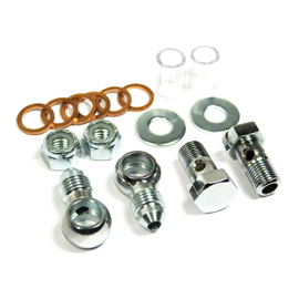 CHROME REPLACEMENT BANJO FITTING KIT