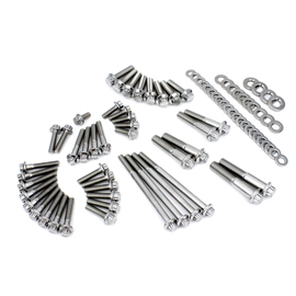 M8 Softail 18 Primary and Transmission Stainless 12 point kit